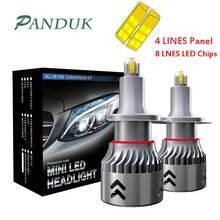 PANDUK 2 шт. огни автомобиля 8 граней 14000LM H8 H11 светодиодный свет H7 светодиодный фар H1 H3 9005 9006 чипов CSP лампы 6000 К Противотуманные фары 12V