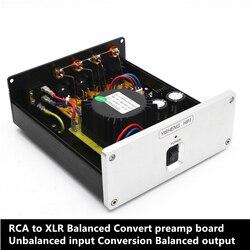 RCA do XLR zrównoważony i przedwzmacniacz wejście niesymetryczne konwersji zrównoważone wyjście