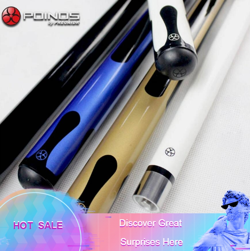 New POINOS CY Billiard Pool Cue 11 5mm Tip Billiards Stick Black 8 Nine Ball Game
