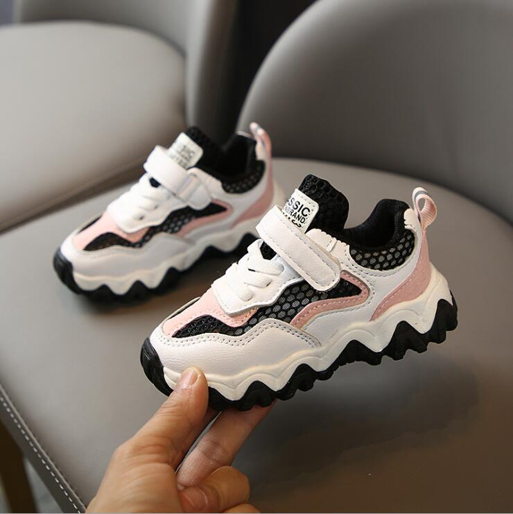 Kids Sport Shoes Spring Summer Fashion Patched Color Mesh Casual Boys Sneakers Children Girls Student Running Shoes Sandals
