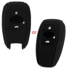 3 Buttons Silicone Car Key Fob Cover Case Protector For Subaru Forester Fork XV
