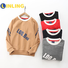 Kids Tshirt Letters Long-Sleeve Printed Baby-Boys Cotton Solid LINLING V455 Blouse Tee-Tops