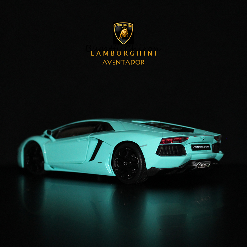 WELLY 1:24 Lamborghini Aventador LP700 Sports Car Simulation Alloy Car Model Crafts Decoration Collection Toy Tools Gift