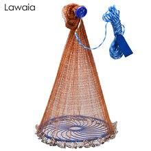 Lawaia литая сетка коричневая мононити с диском легко ловить рыболовную сеть ручной бросок сеть маленькая сетка охотничья ловушка сетки от му...