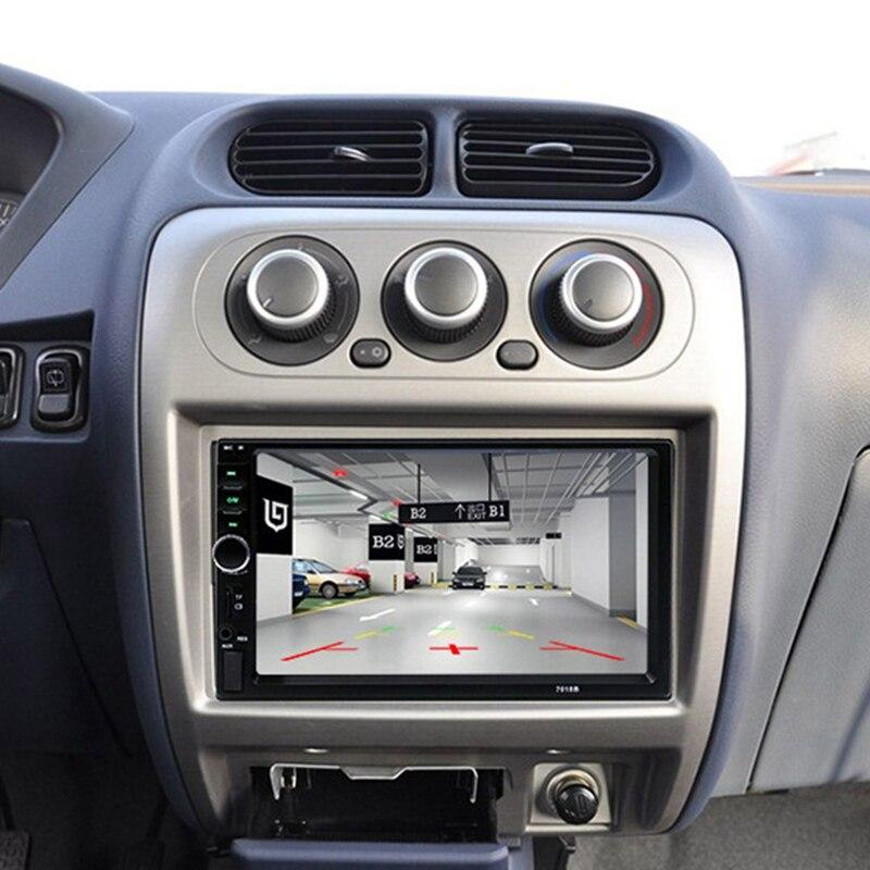 7 pollici Car Radio MP5 Player Con Schermo di Tocco di HD LCD 7018B USB Supporto di Uscita Bluetooth Universale Vivavoce Audio Video lettore