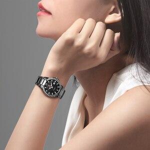 Image 5 - 2019 frauen Luxus Kleid Uhr Kristalle Zirkon Damen Uhren Wasserdicht Voller Stahl TOP Marke Weibliche Armbanduhr Neue Mode Party