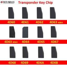 4D60 4D61 4D62 4D63 40Bit 4D63 80Bit 4D65 4D67 4D68 4D69 4D6A 4D6B Chip de Transponder Chip de Chave Do Carro Em Branco para a Ford para a Mazda