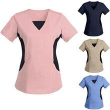 Working-Clothing Short-Sleeve Women Summer for -G37 Nurse-Uniform V-Neck Sexy Plus-Size