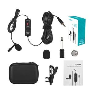 Image 5 - Andoer AD M1 ненаправленный конденсаторный микрофон для караоке петличный Studio камера микрофон с пеной ветровое стекло для iPhone смартфона