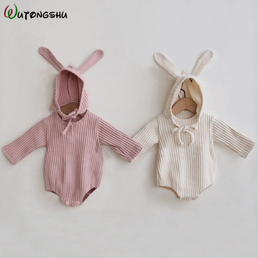 Rabbit Baby Clothes Girl Romper Baby Winter Clothes Newborn Long Sleeve Boys Jumpsuit Baby Girl Clothes Infant Onesie Costume