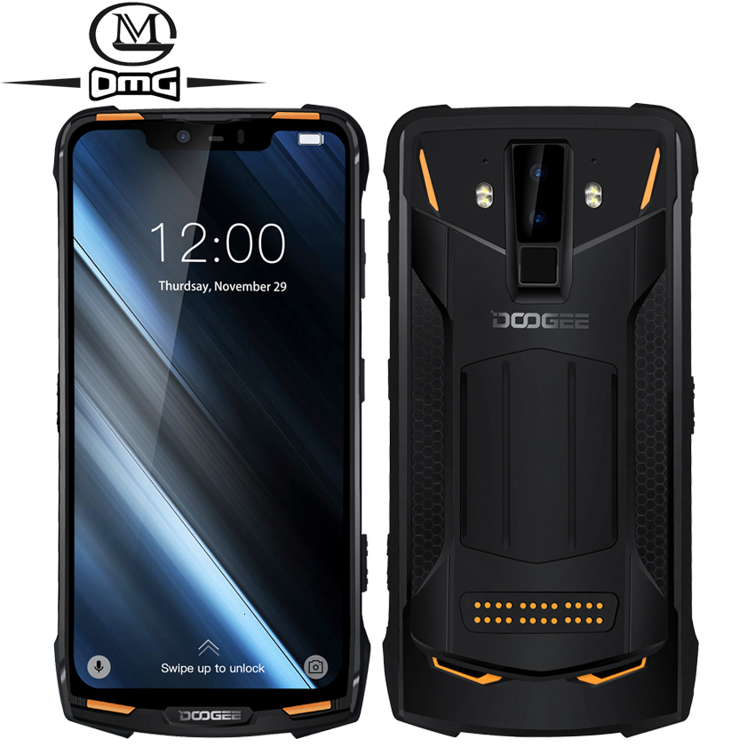 DOOGEE S90 NFC 6GB 128GB IP68 Waterproof Shockproof Mobile Phone Android 8.1 6.18'' 5050mAh Helio P60 Octa-Core 4G Smartphone