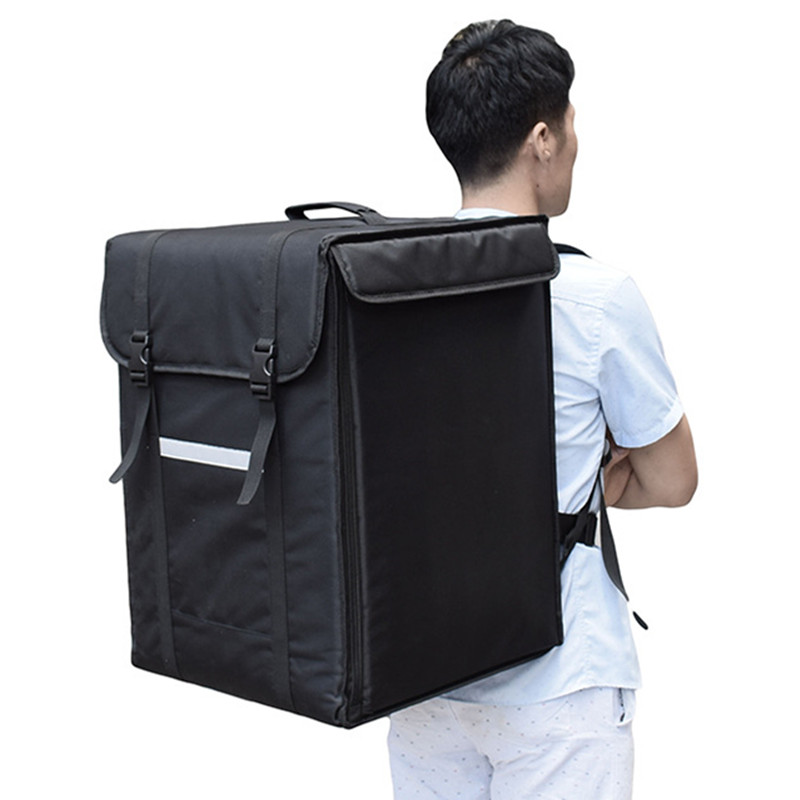 58L Large Takeaway Backpack/Lunch Box Fast Food Pizza Delivery Incubator Ice Bag Waterproof Refrigerated Insulation Box Do Logo
