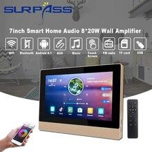 Amplificateur de puissance mural professionnel stéréo Bluetooth WiFi Quad Core, Audio Android 8.1, 8 canaux pour connecter la télévision
