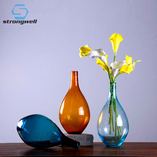 Strongwell Nordic Bubble Glass Vase Modern Creativity Vases Hydroponic Desktop Flowers Inserter Garden Home Decoration