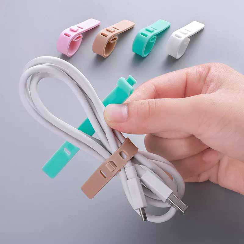 4Pcs Silica Gel Cable Winder Earphone Protector USB Phone Holder Accessory Packe Organizers  Creative Travel Accessories