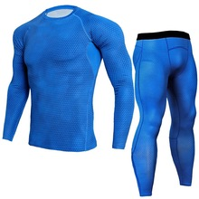2019 New Compression Fitness Workout Running Sportswear Set Tight Men's Leggings T-shirt Demix Gym Sportswear Sport Suit demix спортивный топ бра demix размер 42