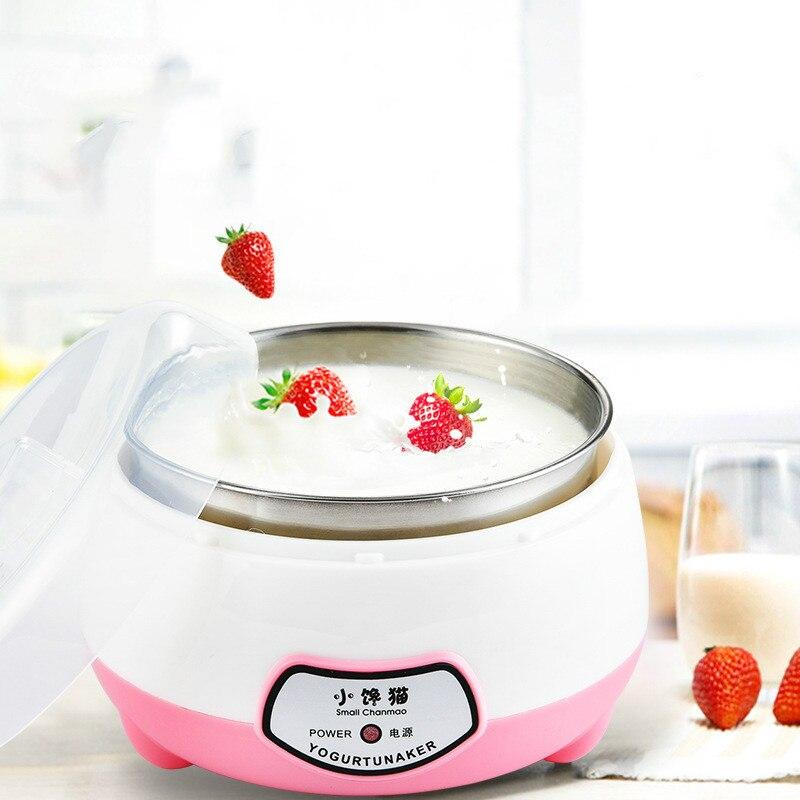 1.0L машина для приготовления йогурта, полностью автоматическая машина для приготовления йогурта из нержавеющей стали, кухонные инструменты...