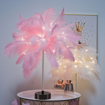 LED Fee Tisch Lampe-Einstellbare Feder Schreibtisch Licht Warm Weiß Tisch Lampe Nacht Licht Für Wohnkultur
