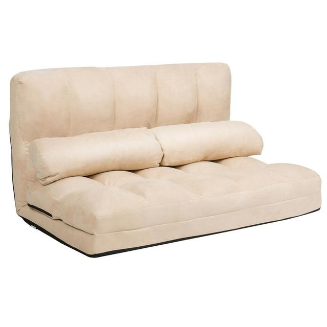 Foldable Floor Sofa Bed w/ 6-Position  1