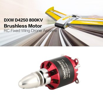DXW D4250 800KV 3-7S Outrunner Brushless Motor for RC FPV Fixed Wing Drone Airplane Aircraft Quadcopter Multicopter 4pcs lot sunnysky x2820 800kv 920kv 1100kv brushless motor for rc helicopter drone fpv quadcopter milti rotor