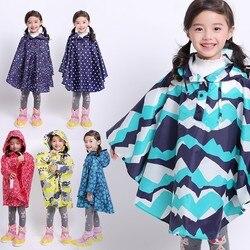 Freesmily crianças à moda chuva poncho impermeável casaco de chuva para meninas meninos