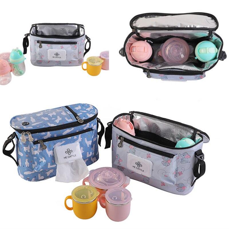 Zipper Baby Diaper Bags Mommy Backpack Sac A Langer Bebe Stroller Nappy Organizer Luiertas Bolso Maternidad Bolsa Bebe Lunch Bag
