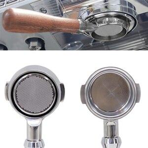 Image 4 - 51/58mm de aço inoxidável máquina de café sem fundo filtro titular portafilter ramo lidar com acessório profissional fatacado