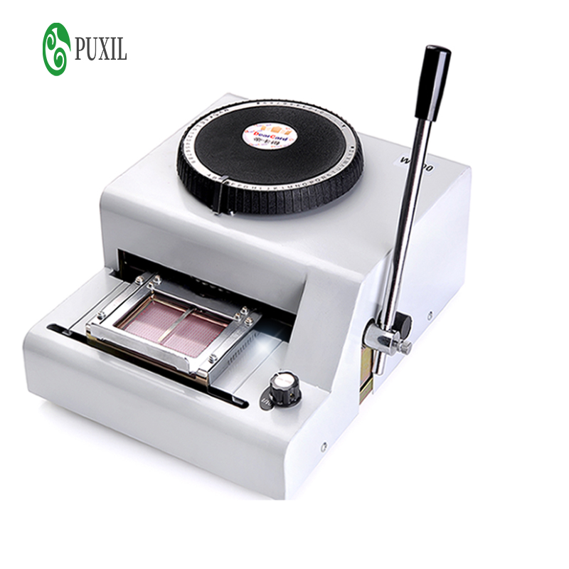 Manual PVC Card Embossing Coding Machine VIP Magnetic Card Engraving Machine