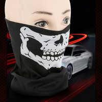 Skeleton Bandana Ski Skull Halloween Neck Half Face Mask Cycling Sport Hiking Scarves Outdoor Warm Windproof Hiking Scarf