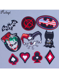 Pulaqi Diy Patches Jeans Clothing Motorcycle-Stickers Joker Letter Movie Custom-Made