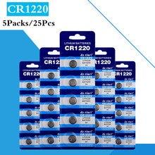 25 шт./5 шт. CR1220 кнопочные батареи DL1220 BR1220 LM1220 литиевая батарея для монет 3 в CR 1220 для часов электронный игрушечный пульт