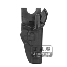 Tactical Pistol Holster Voor Beretta 92 96 M9 Serpa Niveau 3 Retentie Auto Lock Duty Rechterhand Taille Riem Airsoft pistol Holster