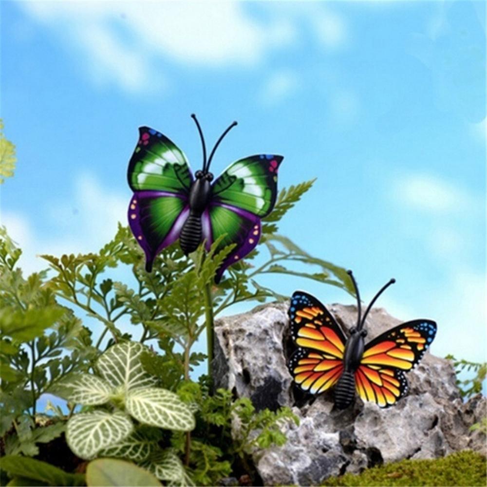24 шт. Бабочка колья сад бабочка колья декор открытый двор патио кашпо цветок горшок красочный сад декор декорацион 7 см