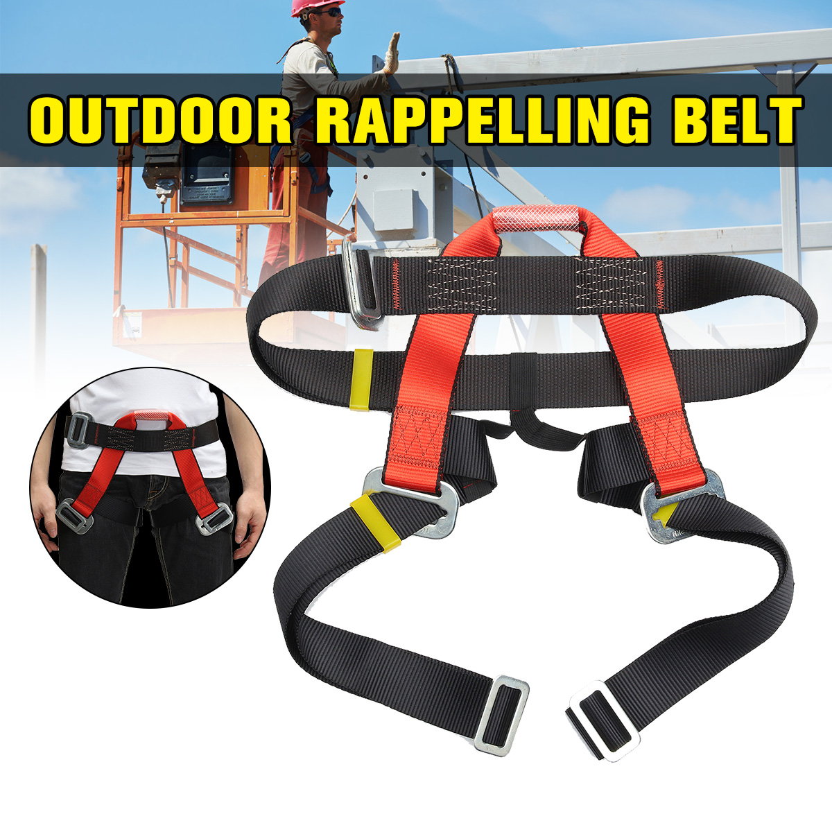 Outdoor Climbing Safety Belt Half Body Protecting For Rock Climbing Downhill Harnesses Rappel Belt Safety Climbing Accessories