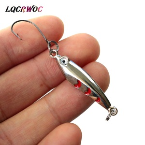 NEW Mini fishing Lure 3CM 4CM 3g 5g spoon metal lures spinnerbsit Minnow small fish Single Hook jig Stream Trout baits pesca hot(China)