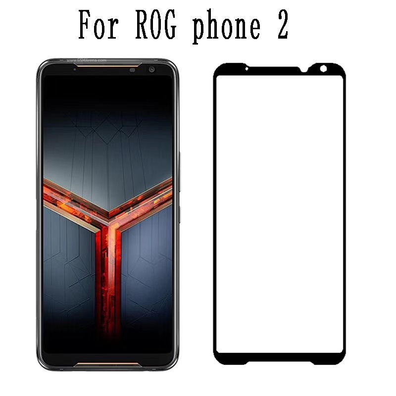 Full Glue Tempered Glass For Asus Rog Phone 2 ZS660KL Screen Protector Full Coverage Screen Protection Film Glass For Rog Phone2