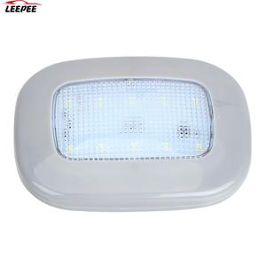Image 1 - Auto Interior Light 10 LED Magnet Dome Light Universal Car Reading Light White Vehicle Roof Ceiling Lamp Trunk Lamp USB Charging