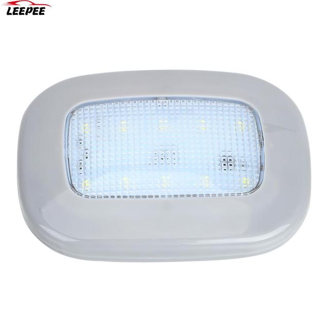 Auto Interior Light 10 LED Magnet Dome Light Universal Car Reading Light White Vehicle Roof Ceiling Lamp Trunk Lamp USB Charging