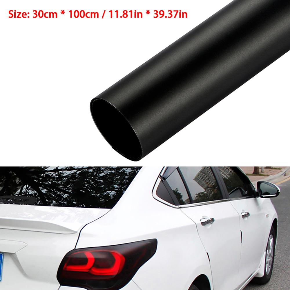 Tint Vinyl Film Sticker Sheet Matt Black Waterproof Solvent-Resistant For Automobile Car Headlight Taillight Rear Lights Glass