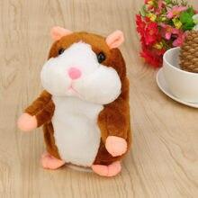 Adorável 15cm bonito repetindo falando pelúcia hamster adorável interessante falando registro mouse animal de estimação brinquedo de pelúcia eletrônico para o miúdo