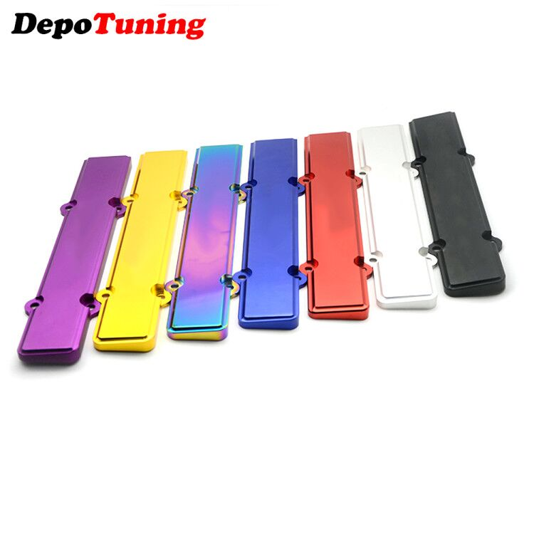 DepoTuning 1PCS Aluminum Spark Plug Cover B-Serie For Honda Civic B16 B18 FS-SK02 With Logo