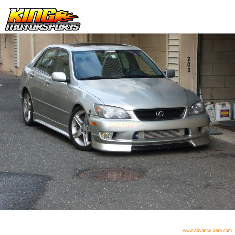 For 01-05 Lexus IS300 AMS Style Front Bumper Lip Spoiler Body Kit