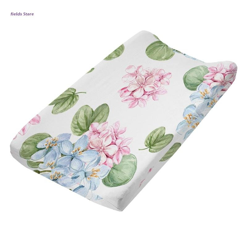 XX9E Baby Changing Pad Cover Soft Breathable Cotton Nursery Table Sheet Print Changing Mat Protector for Infant Toddler