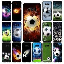 Babaite Football Soccer Ball on water burning fire sports Phone Case for Samsung Galaxy S10E S7 Edge S9 S8 S10plus S6 S10Lite(China)