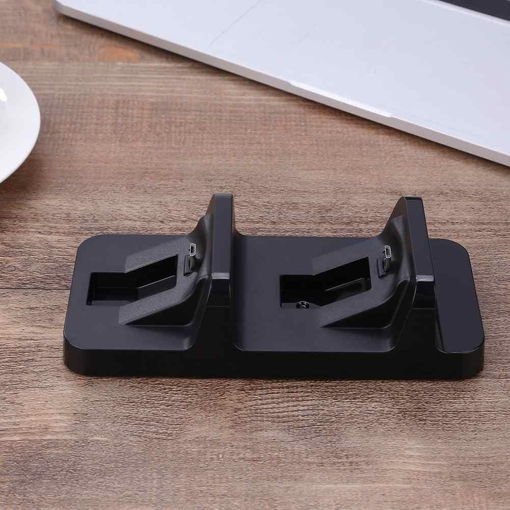 DC 5V Mini çift şarjlı USB çift şarj standı şarj cihazı PS4 denetleyici Gamepad hızlı şarj standı