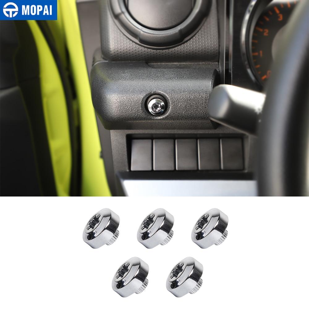 MOPAI-manijas de puerta Interior de coche, apoyabrazos, tornillo de decoración, cubierta embellecedora para Suzuki Jimny 2019 +