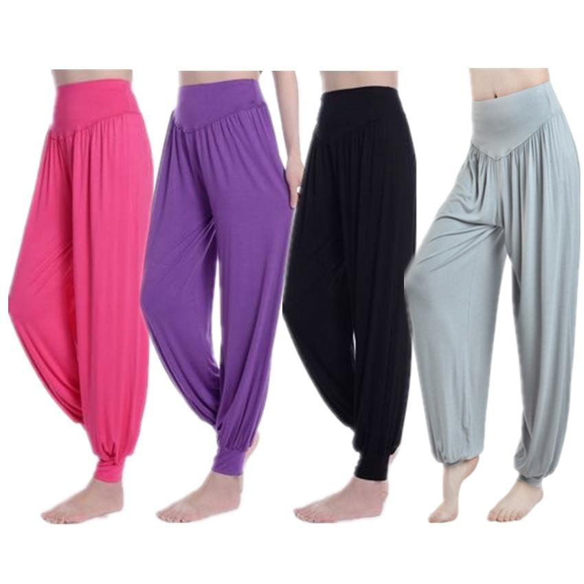 8Colors Woman Belly Dance Trouser Modal Elastic Bellydance Costumes Lady Loose Lantern Capri Pants Indian Dancing Trousers