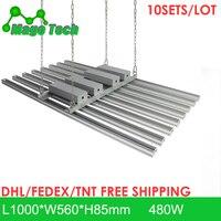 10pcs/lot 480W LED Grow Light Heatsink Grow Strip Light Aluminum Heat Sink 1M Grow Lighting Heatsink Only