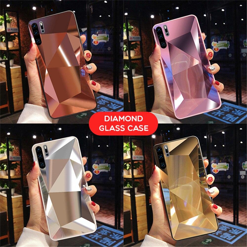 Luxury 3D Diamond Case For Huawei P20 P30 Pro Honor 7C Y7 Y6 Y9 Prime 2019 Case For iPhone 11 Pro XS Max X XR 6 6S 7 8 Plus Case