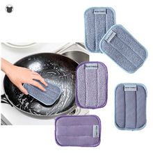 5PCS double sided kitchen Cleaning sponge wipe for dishwashing antibacterial Sponge cleaning brush for bathroom super absorption